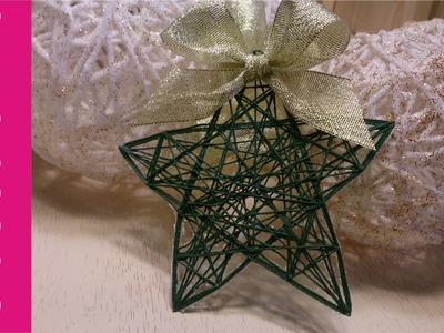 Gwiazdka zawieszka ze sznurka (string ornaments, star)