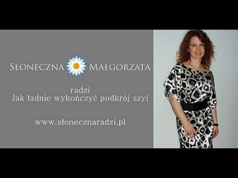 Jak ładnie wykończyć podkrój szyi by Słonecznaradzi.pl