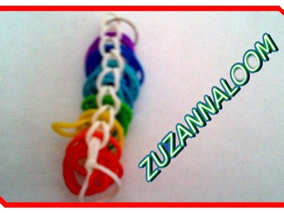 Loom bands po polsku wzór bransoletka jako przywieszka do kluczy