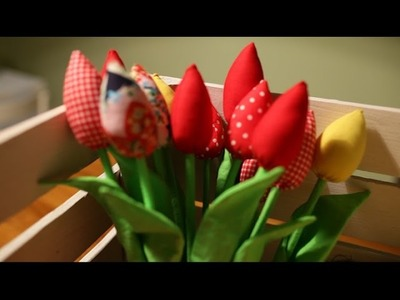 Szycie #1 Tulipany z materiału | Fabric tulips handmade