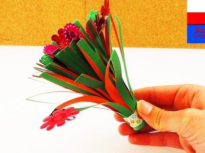 DIY International | mały bukiecik z papieru | prezent na Dzień Matki lub Dzień Ojca | wycinanka