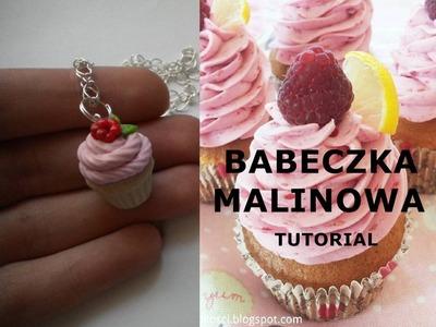 MALINOWA BABECZKA#Z MODELINY#RASPBERRY CUPCAKE#POLYMER CLAY