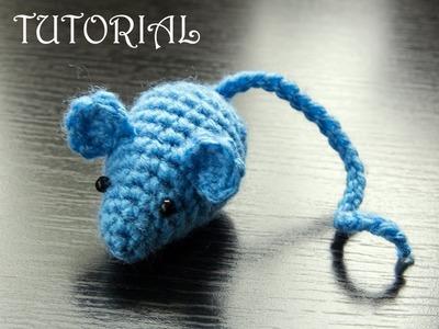 Myszka na szydełku- zabawka dla kota