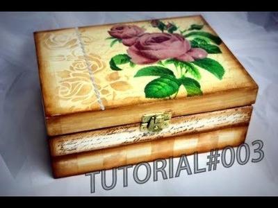Decoupage - Pudełko na biżuterię # TUTORIAL DIY