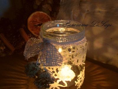 JAK ZROBIĆ LAMPION ŚWIECZNIK ZE ŚNIEŻYNKAMI * Panorama LeSage