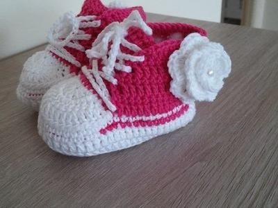 No 44# Buciki na szydełku dla dziecka 3-6 miesięcy część 1-3 - boots for baby 3-6 months PART 1-3