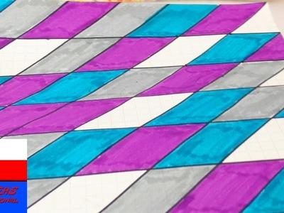 Ciekawy wzorek do zeszytu lub kalendarza | malowanie, rysowanie | back to school