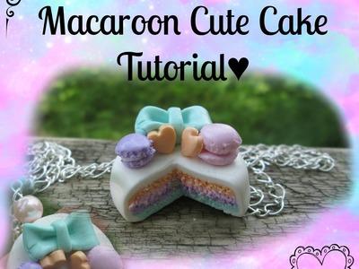 ♡Macaroon Cute Cake Tuturial♡
