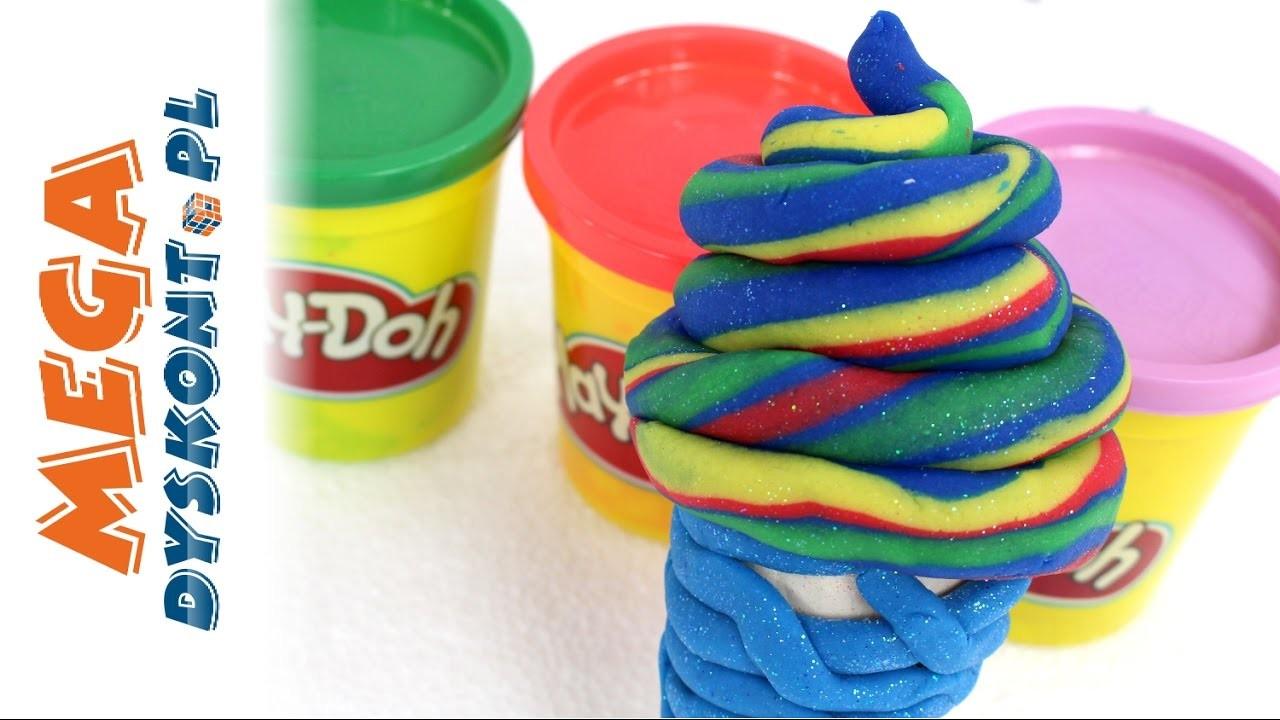 DIY - Frozen - Zrób Super Brokatowego Loda dla Księżniczki Elsy! - Play Doh
