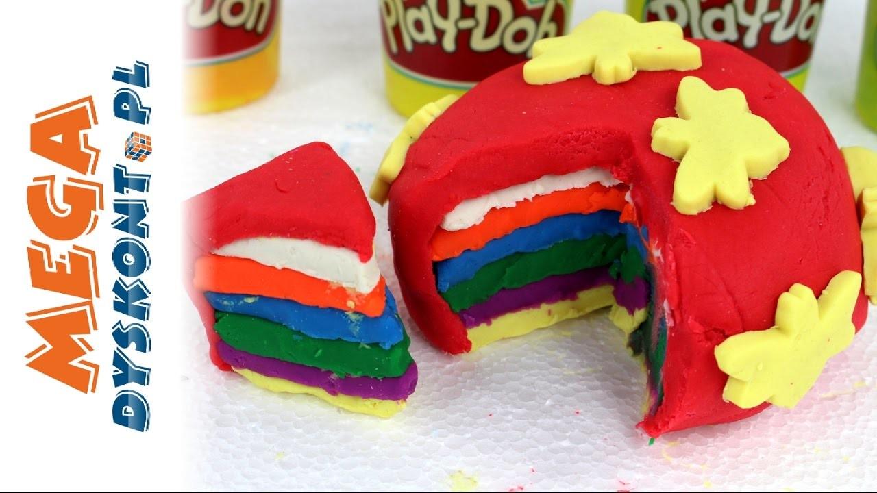 DIY - Jak zrobić Tęczowe Ciasto Play Doh? - Zrób to sam! - Kreatywne Zabawy