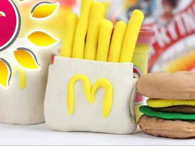 DIY - Jak zrobić Zestaw Happy Meal z McDonald`s z ciastoliny Play Doh? Fast food!