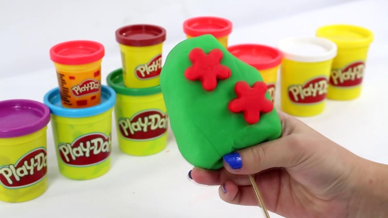 DIY - Jak zrobić Tęczowego Loda na Patyku Play Doh? Zrób to sam! - Kreatywne Zabawy