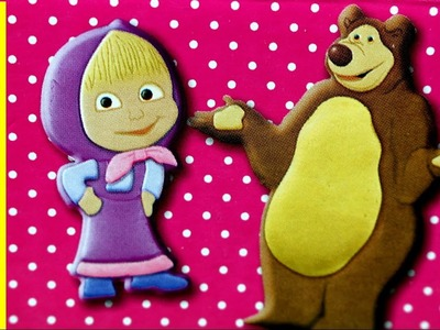 Masha and the Bear - Z Zestawem Kreatywnym Lepimy Maszę i Miszę!. Masha Dough Set - Simba