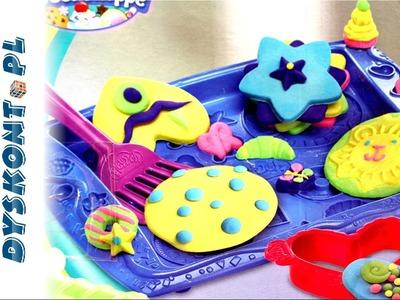 Play Doh - Jak zrobić Tęczowe Słodkie Ciasteczka?. How to make rainbow Cookie Creations?