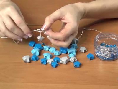 Łańcuch choinkowy z papierowych gwiazdek - Kreatywna Mama