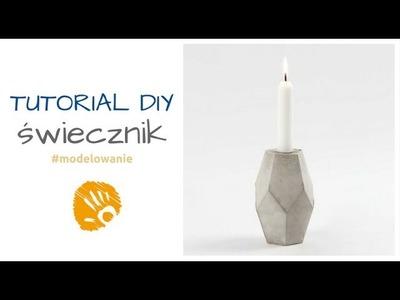 Cementowy świecznik - tutorial DIY