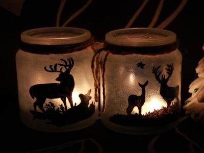 Decoupage # Słoiczkowe Lampiony# Tutorial DIY