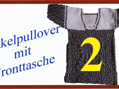 Häkelpullover mit kurzen Ärmel und Fronttasche Teil 2 deutsch