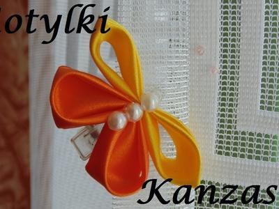Kanzashi: Duże motylki ze wstążki.samochodziara.blogspot.com