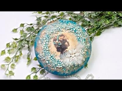 Decoupage bombka  3D z dziewczynką Tutorial  DIY