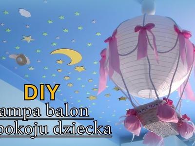 DIY - Lampa balon do pokoju dziecka
