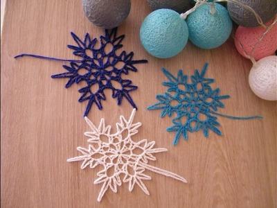 No 77# Śnieżynka, śnieżka na szydełku nr 7 - snowflake on crochet nr 7