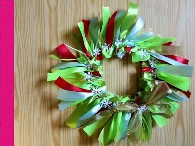 Wianek ze wstążek (Wreath with ribbons, DIY)