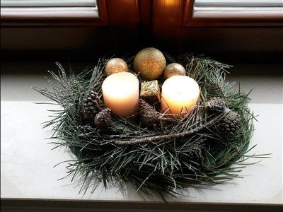 Zrób to sam: Dekoracje Świąteczne: świecznik Bożonarodzeniowy