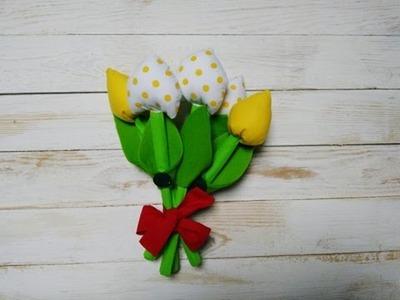 Jak zrobić bukiet kwiatów z materiału DIY