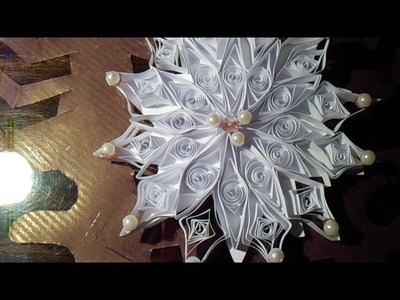 Śnieżynka quilling DIY
