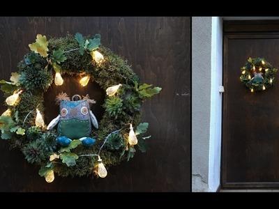 Sposób na.  wianek na drzwi DIY (w tym Halloween)
