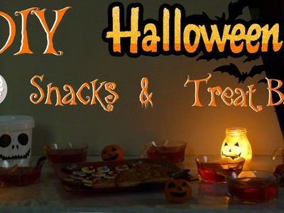 DIY Halloween Snacks & Treat Bags | Halloweenowe Przekąski & Pojemnik na Słodycze