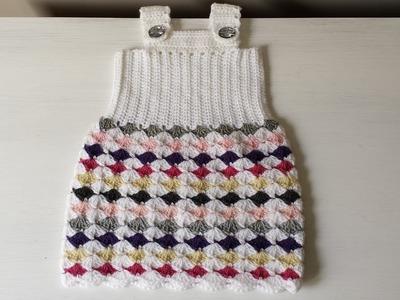 Sukieneczka na szydełku, sukienka dla dziecka na szydełku 2.2