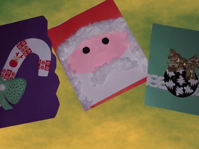 DIY: KARTKI ŚWIĄTECZNE BOŻONARODZENIOWE MIKOŁAJ