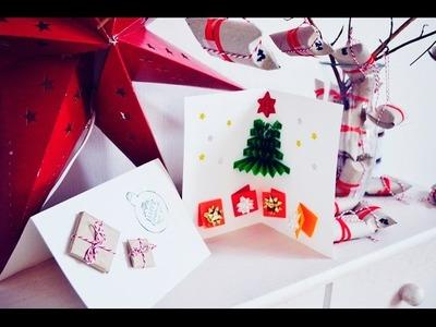 Jak wykonać świąteczną kartkę Bożonarodzeniową DIY  Christmas Cards ❄ Kartki świąteczne VLOGMAS 1