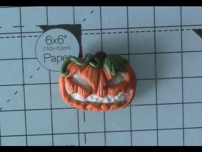 Polymer Clay Spooky Pumpkin Tutorial.Collab w.kisielekkawaii