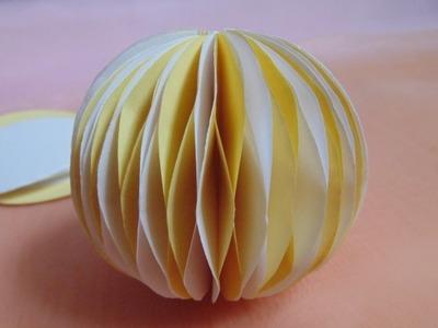 Jak zrobić bombkę 3D z papieru.Christmas Ball. samochodziara.blogspot.com