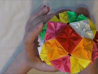 Kula kwiatowa 3 ☛ origami kusudama ☛ loop ☛ jak wykonać krok po kroku ☚