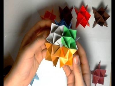 """Origami: """"Kolczasta"""" Kula"""