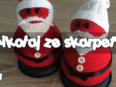 DIY How to make a Santa Claus | Zrób to sama - Jak zrobić Mikołaja ze skarpetki