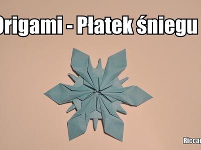 Origami - Płatek śniegu 2