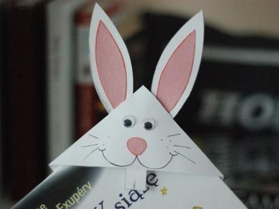 Zakładka do książki - zając. Bunny Bookmark