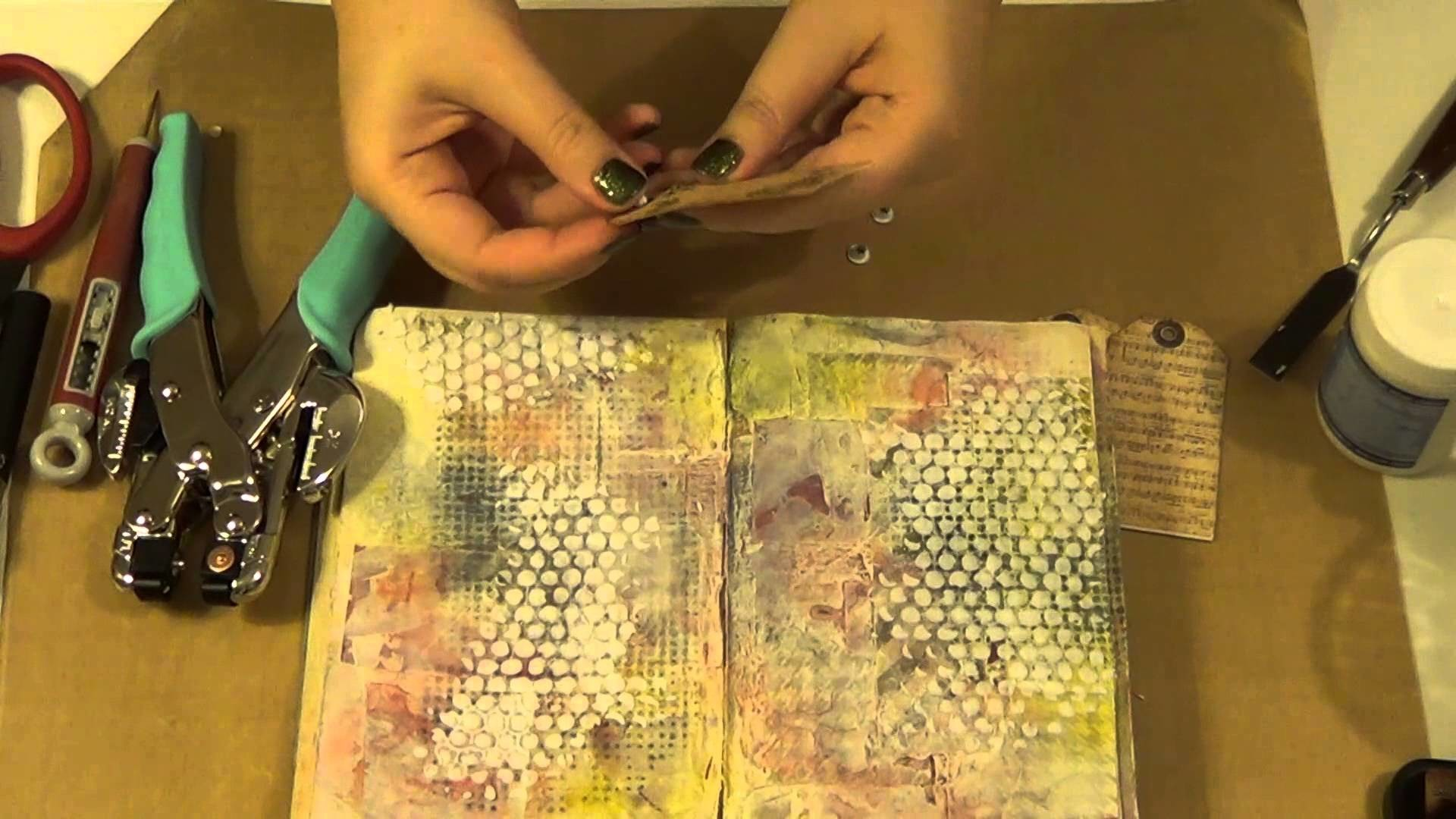 Don't waste your time - art journal page