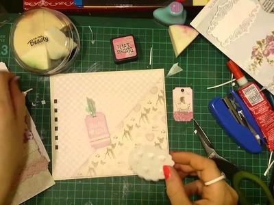 Jak ozdobić album - narożna kieszonka, scrapbooking, tutorial, DIY