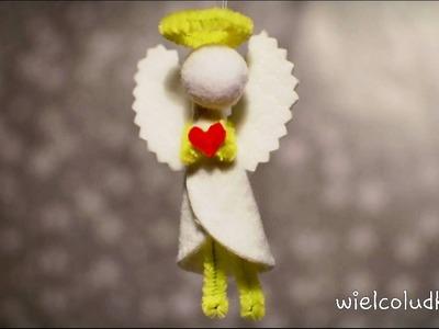 DIY - JAK ZROBIĆ ANIOŁKA Z PŁATKÓW KOSMETYCZNYCH I DRUCIKA KREATYWNEGO. ANGEL FROM COTTON PADS #15