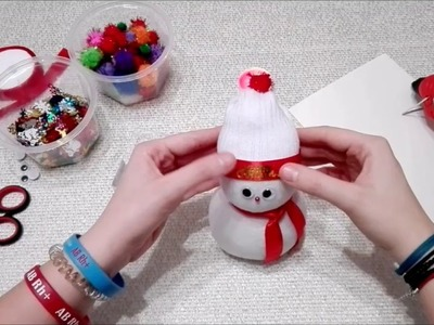 DIY- Bałwan ze skarpetki (How to make a snowman)