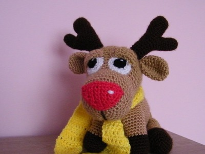 No 95# Renifer na szydełku - Reindeer on crochet - Part 1-4