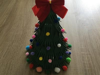 DIY I Jak zrobić choinkę z plastikowych widelców I christmas tree #3