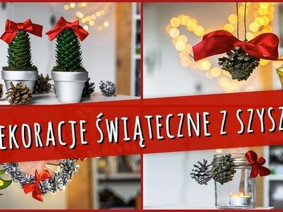 Proste dekoracje świąteczne z szyszek || christmas decorations diy