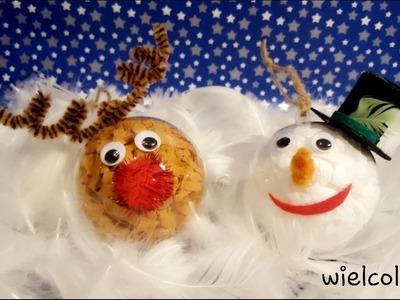 DIY - JAK ZROBIĆ BOMBKĘ RENIFERA I BOMBKĘ BAŁWANKA. BAUBLE REINDEER & SNOWMAN #22